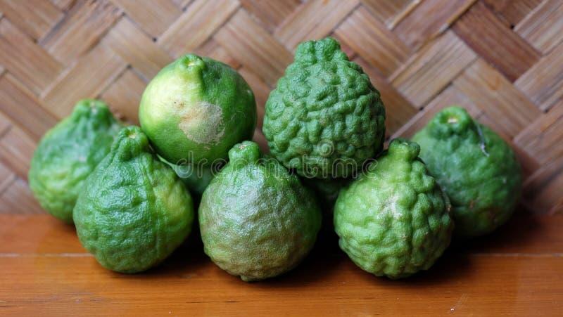 Green Bergamot stock photos