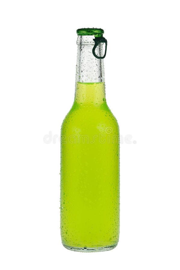 Download Green Beverage In Glass Bottle Stock Photo - Image: 24947054