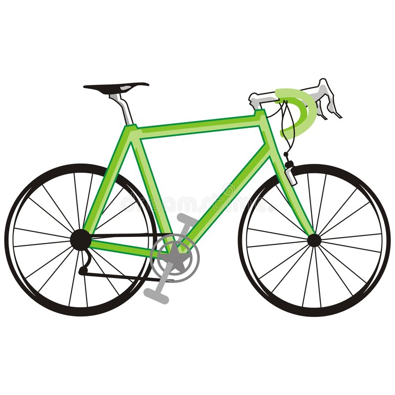 Green bicycle royalty free illustration