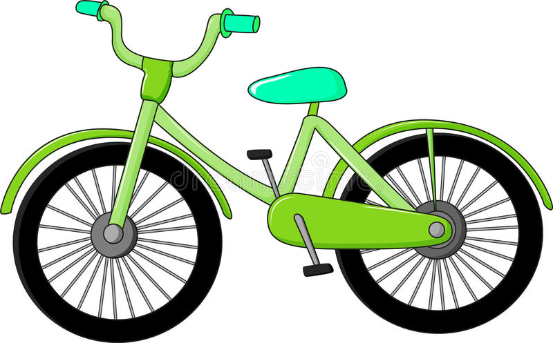 A Green Bicycle Stock Images
