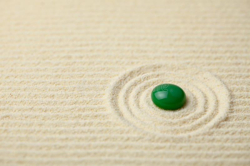 Download Green Big Glass Drop On A Sand Surface Stock Image - Image: 12066029