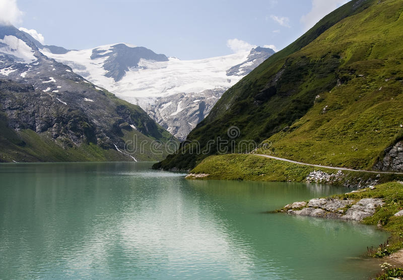 Green Big Mountain Lake Stock Photography
