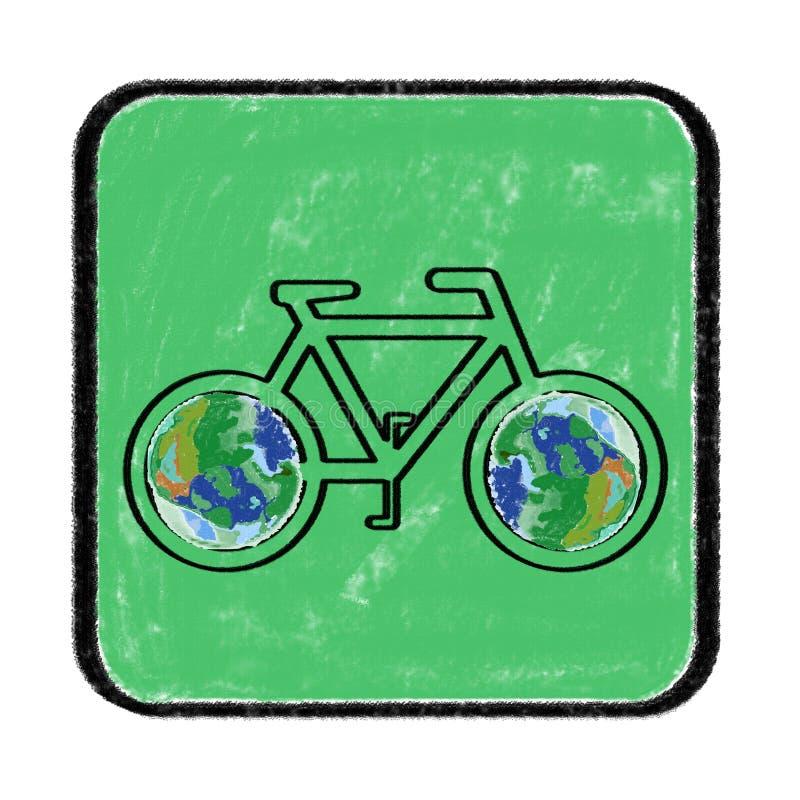 Green bike royalty free illustration