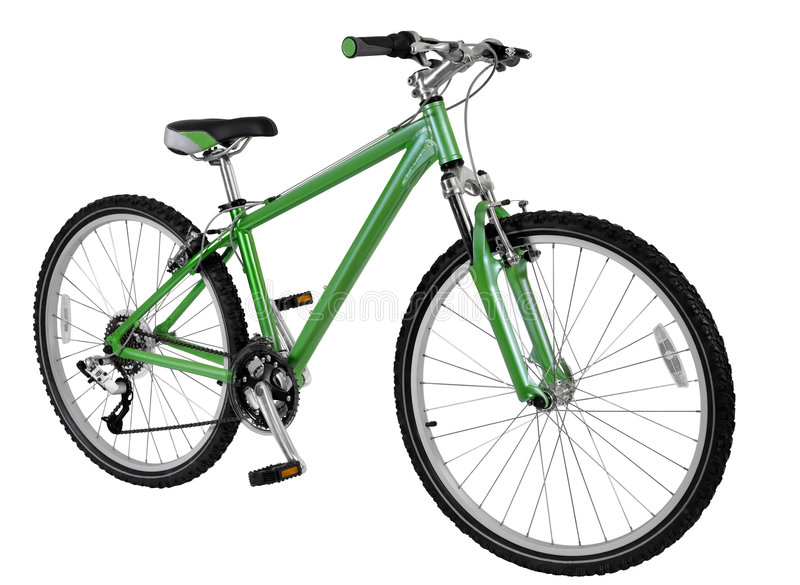 Green bike royalty free stock images