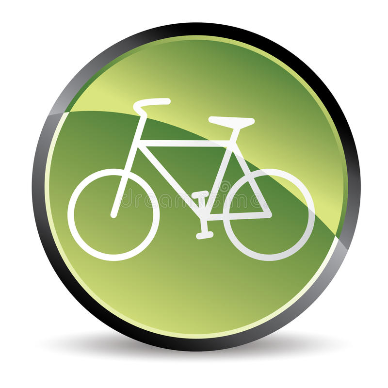Green Bike Icon Royalty Free Stock Images