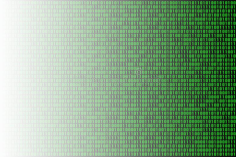 Green binary code. An image of a binary code made up of a set of green digits on a black background royalty free stock photos