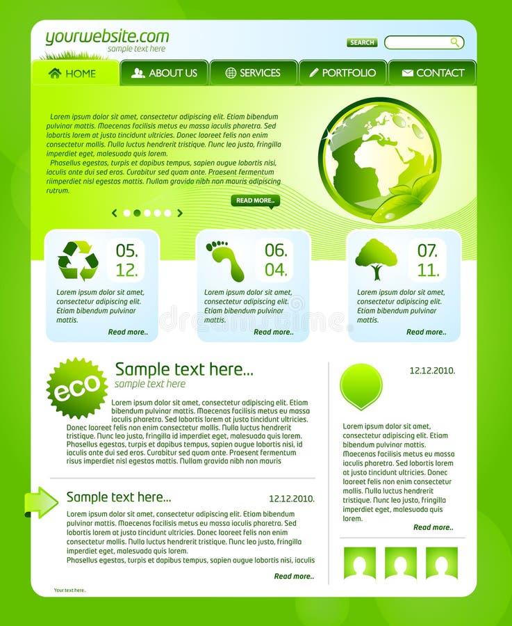 Download Green bio website template stock illustration. Image of botanical - 16242837