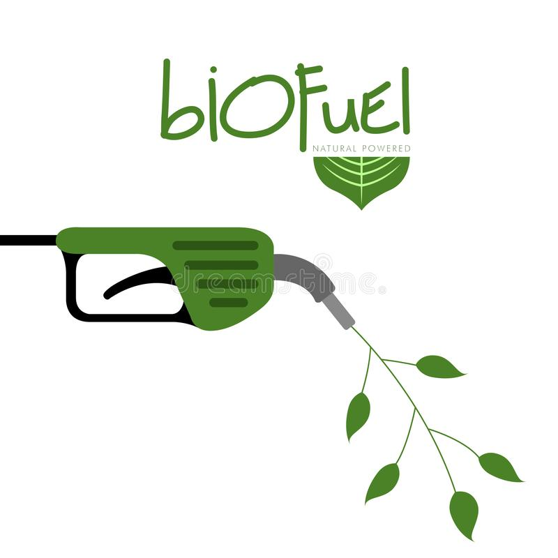 Green biofuel concept image vector illustration