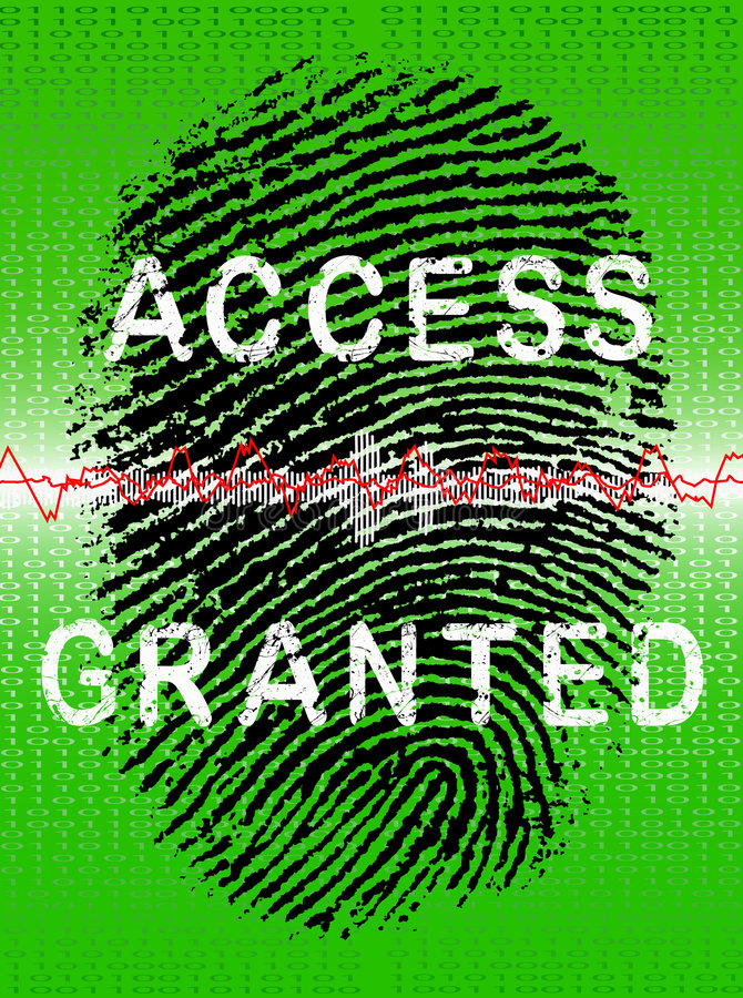 Green Biometric Scanner royalty free stock photos