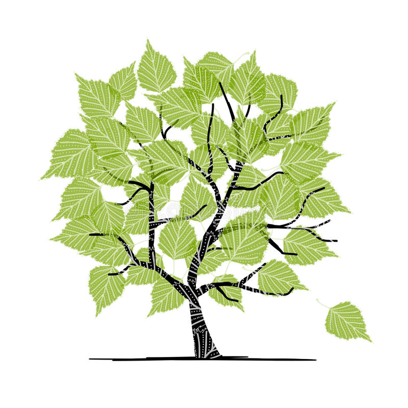 Download Green Birch Tree For Your Design Stock Vector - Illustration: 28932014