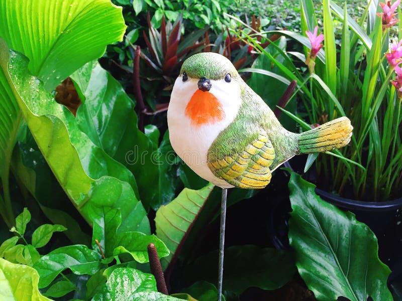 Green bird plaster stock images
