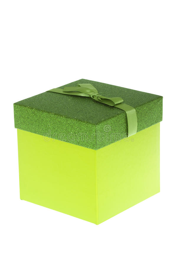 Free Green Birthday Gift Box Isolated Royalty Free Stock Images - 53765619