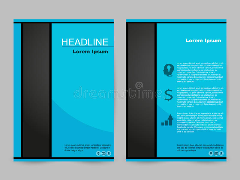 Green and black brochure design royalty free stock images