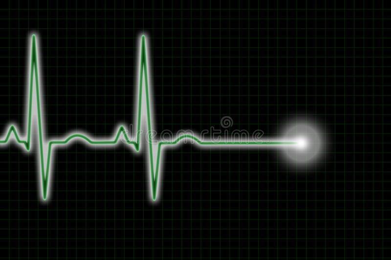 Green and Black ECG Trace vector illustration