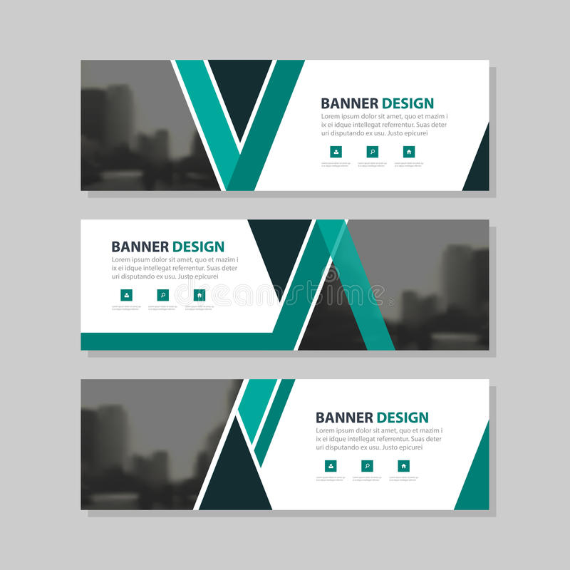 Green black triangle abstract corporate business banner template, horizontal advertising business banner layout template. Flat design set , clean abstract cover royalty free illustration