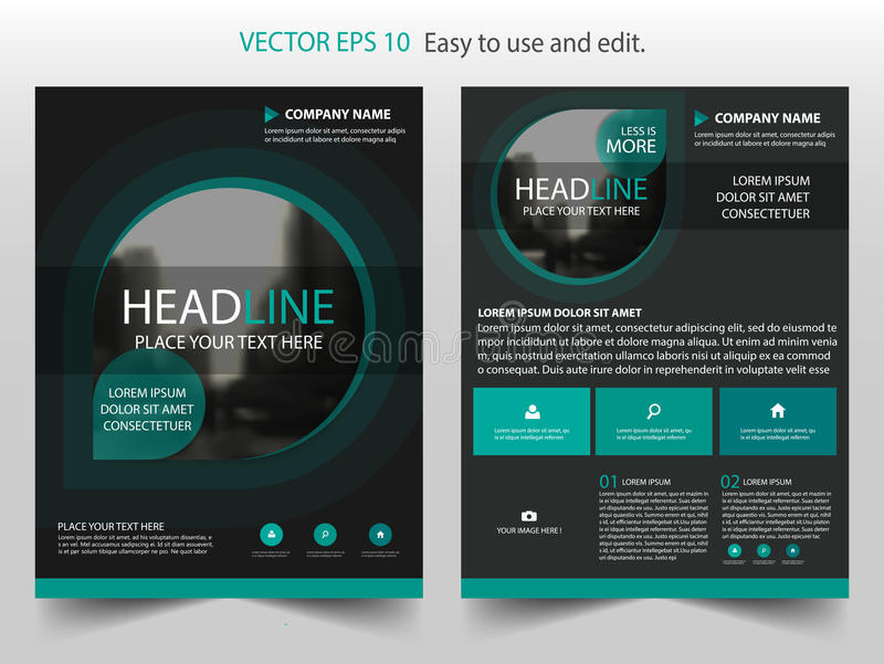 Green black Vector Brochure annual report Leaflet Flyer template design, book cover layout design, abstract business presentation vector illustration