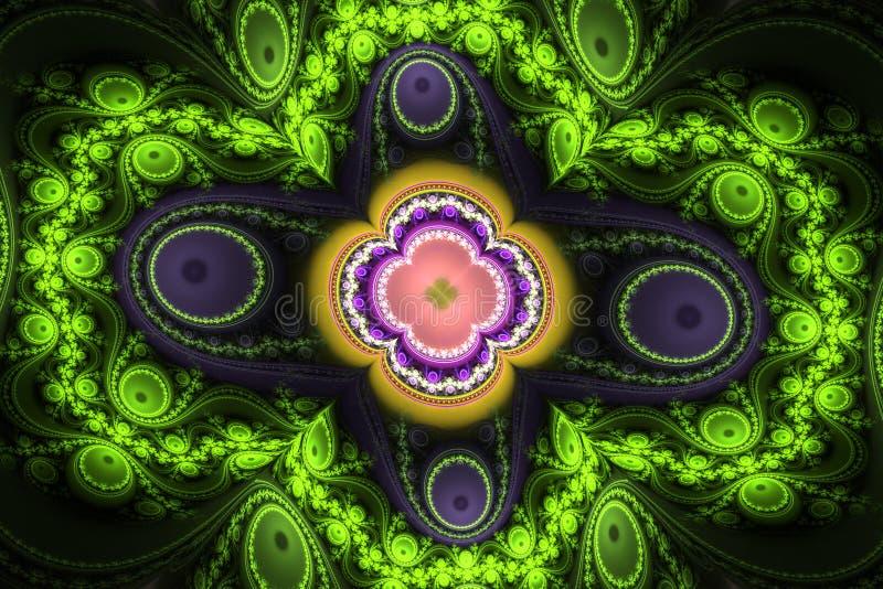Green black waves fractal fraktal wallpaper background animated geometric shapes pattern vector illustration