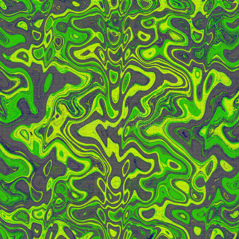 Green and black wavy pattern abstract marble effect wallpaper design background. Green and black wavy pattern abstract marble effect wallpaper design modern art royalty free illustration