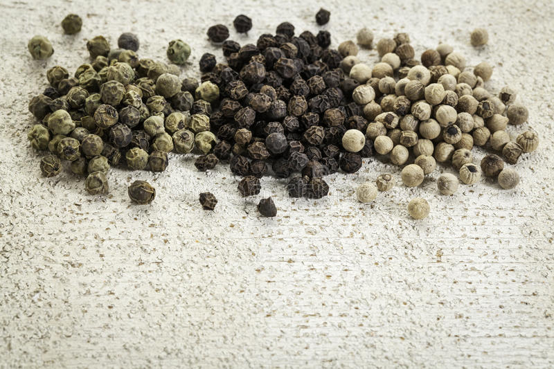 Download Green, Black And White Peppercorns Stock Image - Image: 36586835
