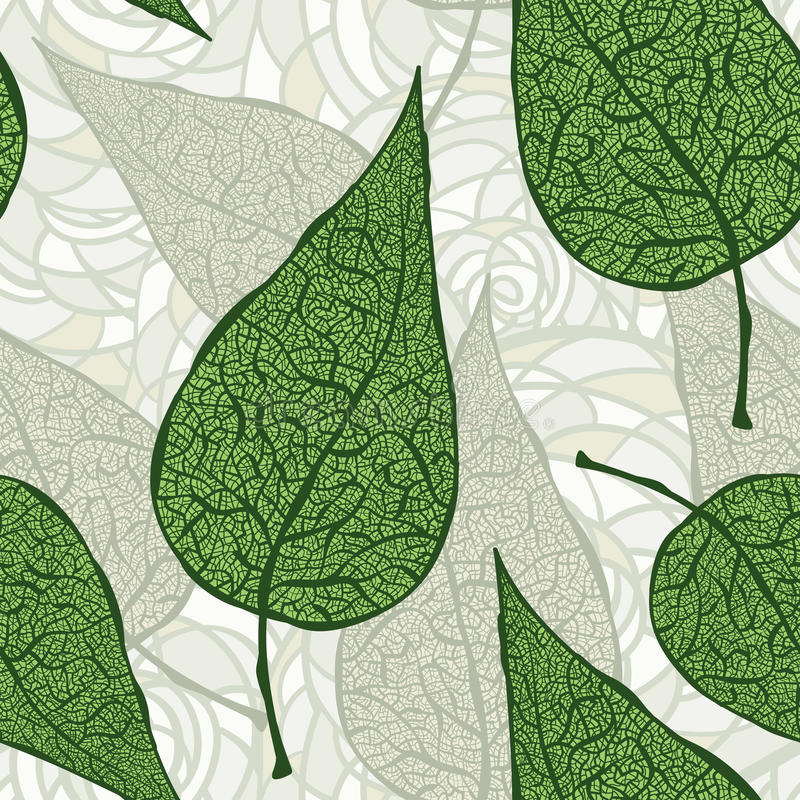 green blad seamless tappning vektor illustrationer
