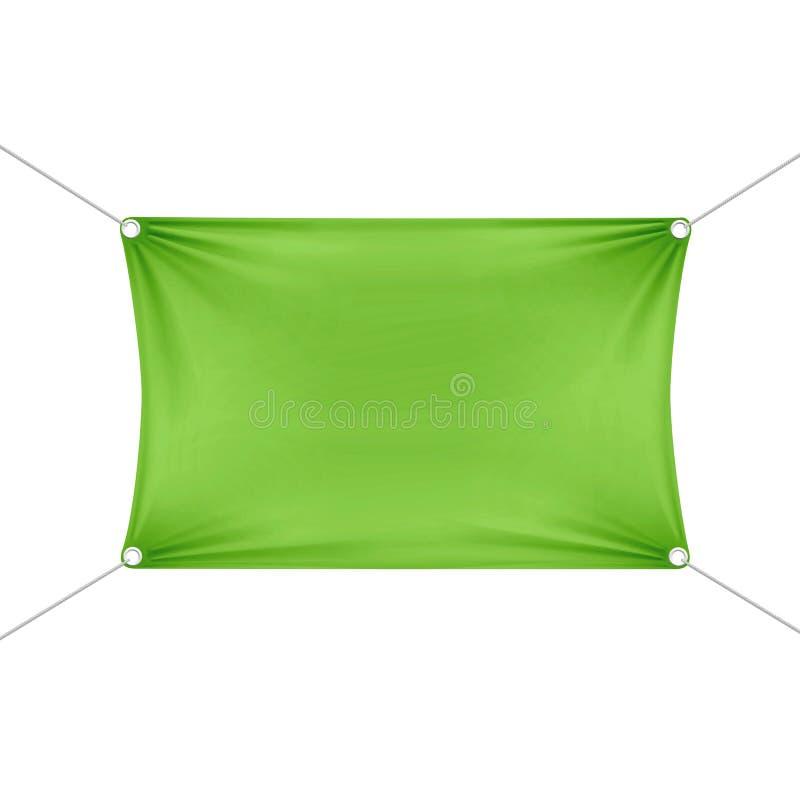 Green Blank Empty Horizontal Rectangular Banner vector illustration