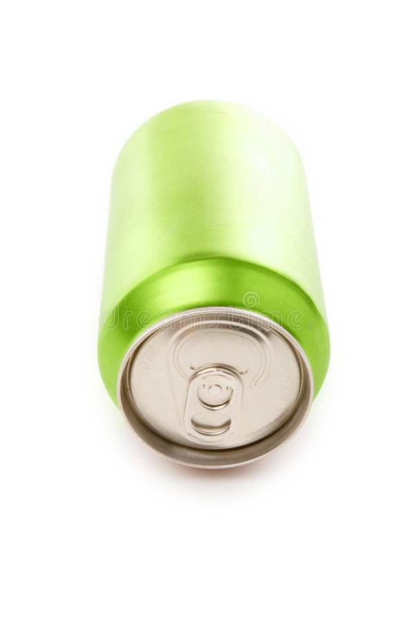 Green blank soda can. Blank soda can with white background royalty free stock photos