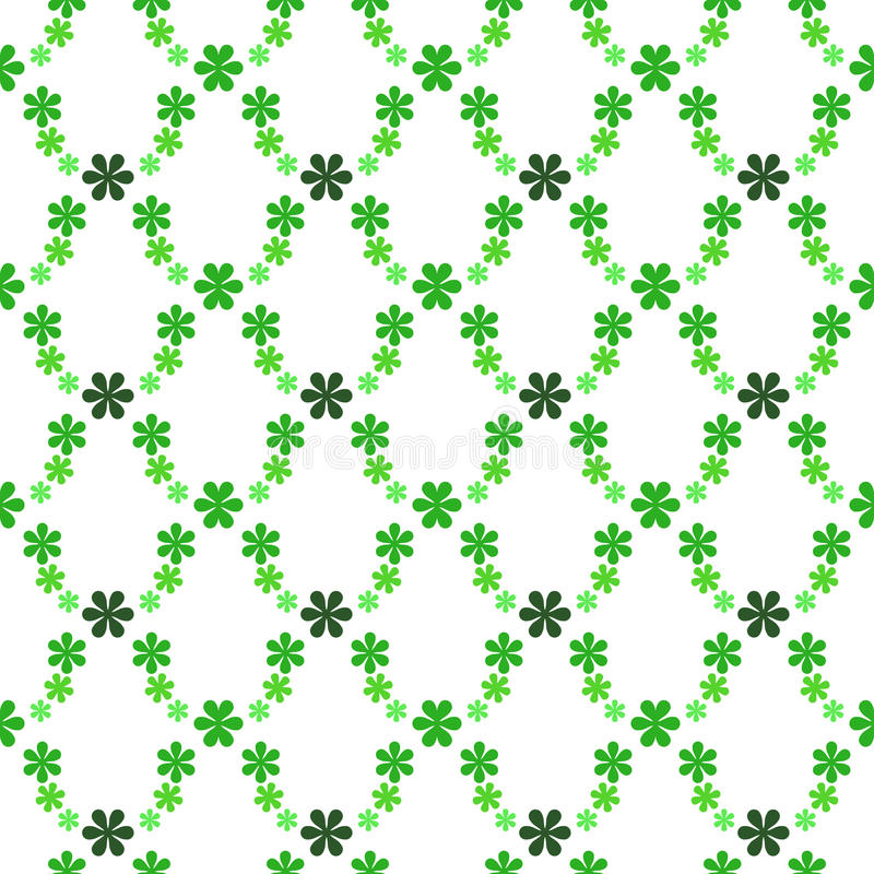 Green blossom pattern web structure. Illustration stock illustration