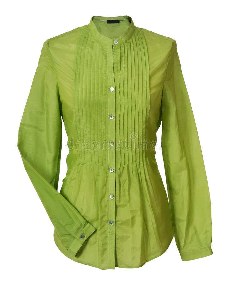 green blouse royalty free stock images