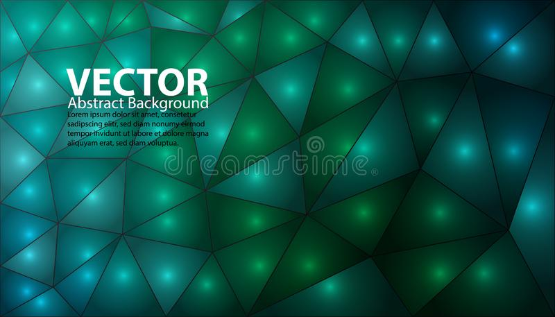 Green And Blue Abstract Background - Bright Vector Illustration With Light Dots stock illustration