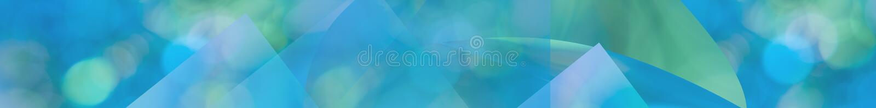 Green blue aqua abstract panorama web banner vector illustration