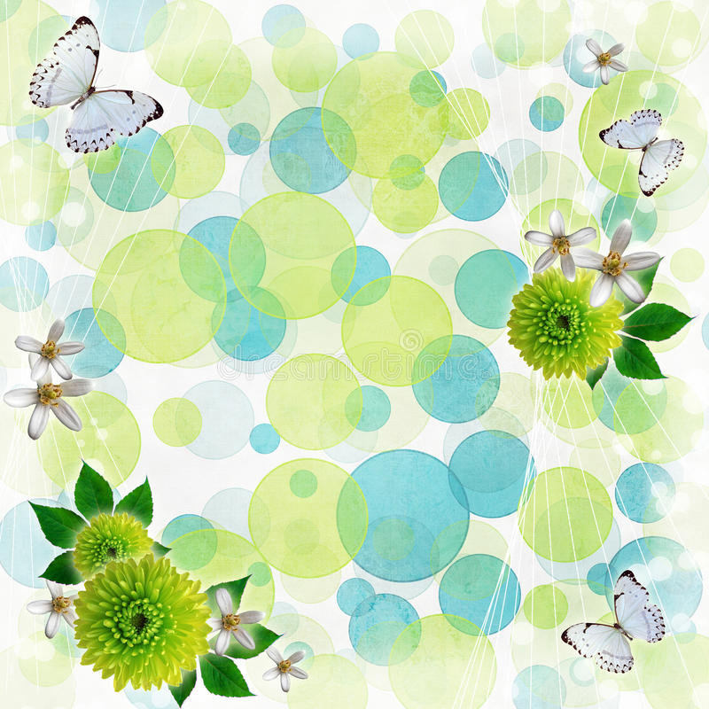 Green and blue bokeh background vector illustration