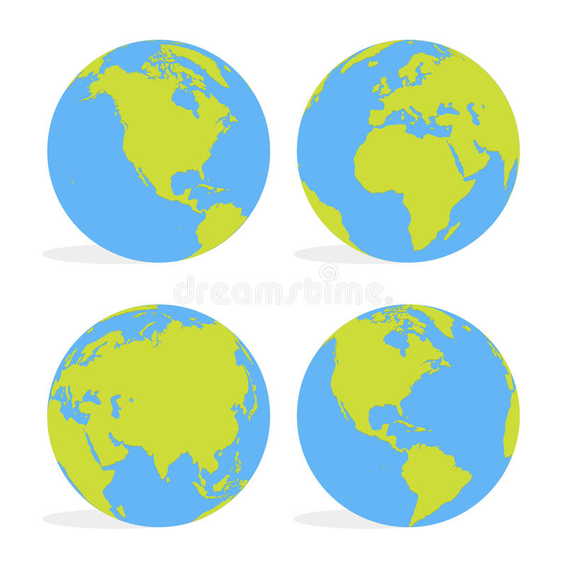 Green and blue cartoon world map globe set vector illustration stock download green and blue cartoon world map globe set vector illustration stock vector illustration of gumiabroncs Images