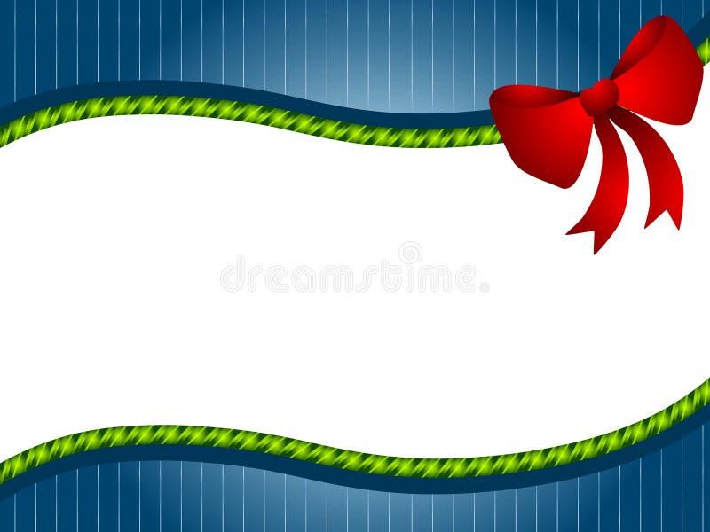 Green Blue Christmas Bow Border vector illustration