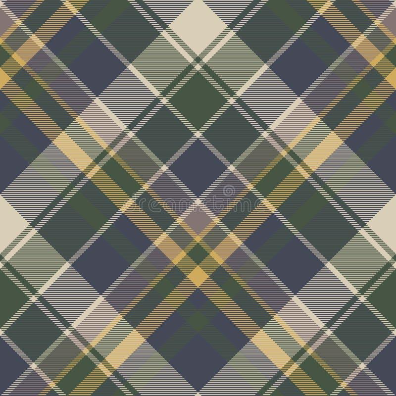 Green blue classic check plaid seamless pattern stock illustration