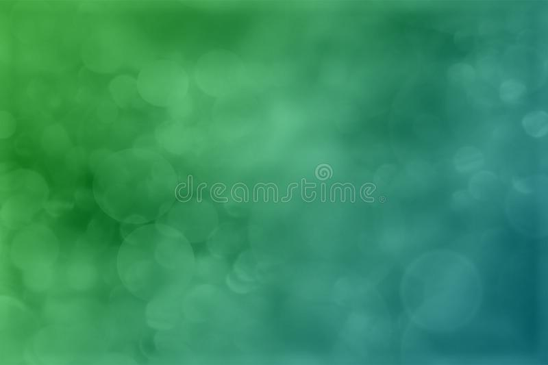 Green and blue colorful abstract bokeh wallpaper background illustration. royalty free illustration