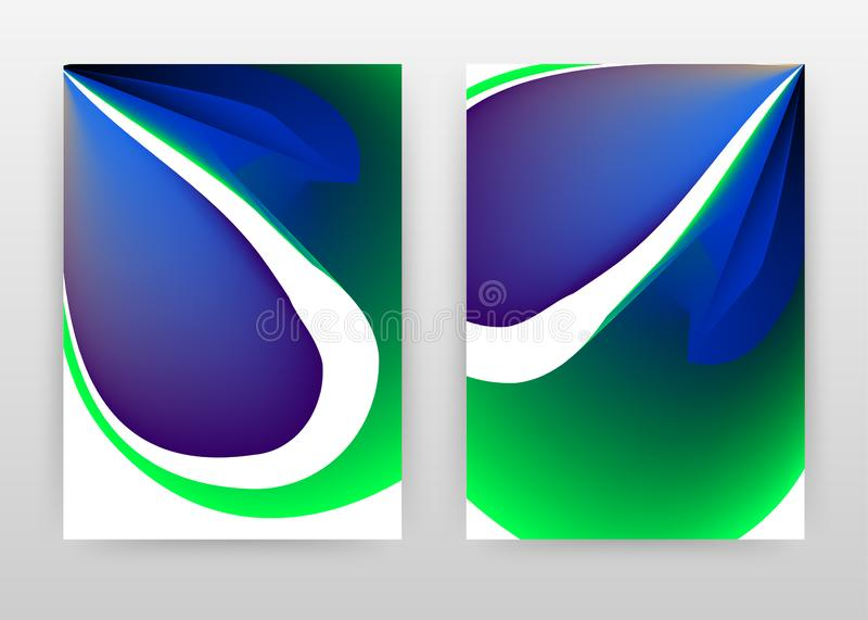 Green blue concept. abstract design of annual report, brochure, flyer, poster. Colorful concept background vector illustration for stock illustration