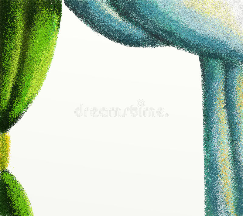 Download Green and blue curtains stock illustration. Illustration of space - 7400943