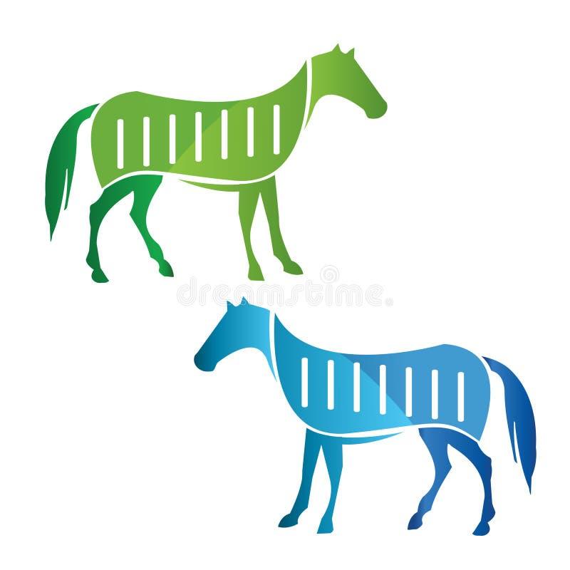 Green and blue Horse Vector stock photos