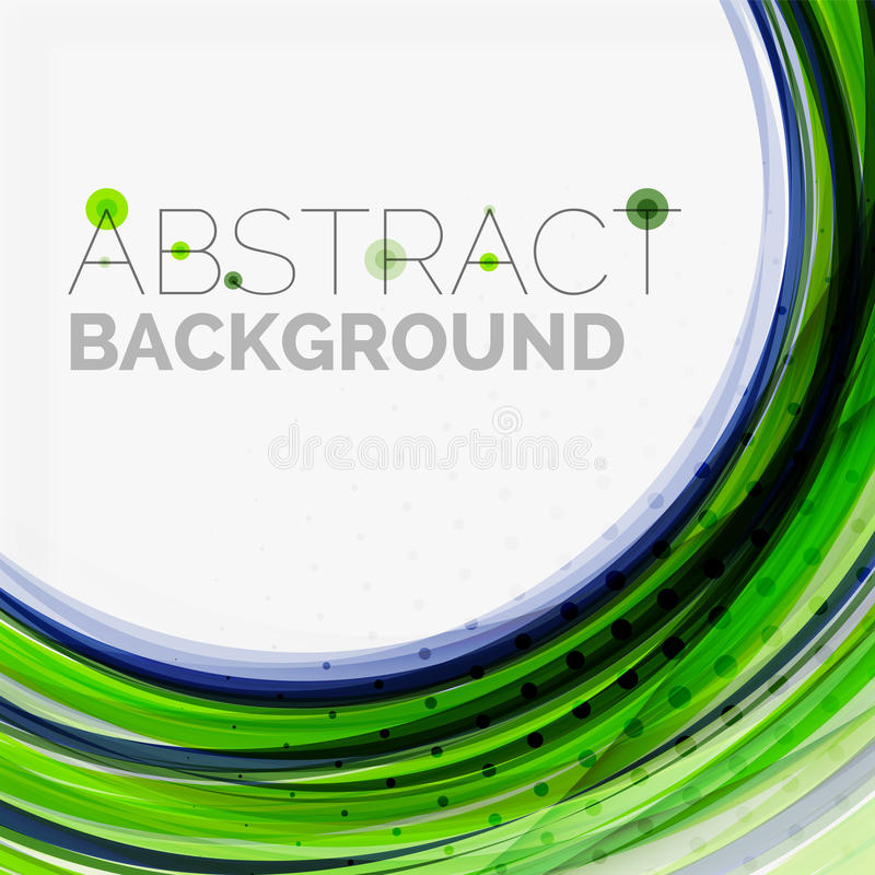 Green and blue lines background royalty free illustration
