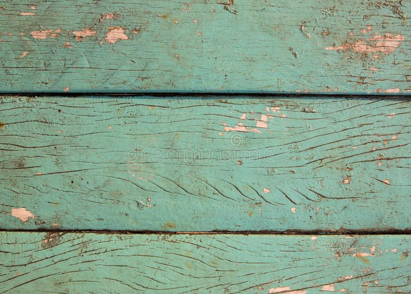 Green blue painted wooden board texture. Timber board top view photo background. Painted wood texture. royalty free stock photos