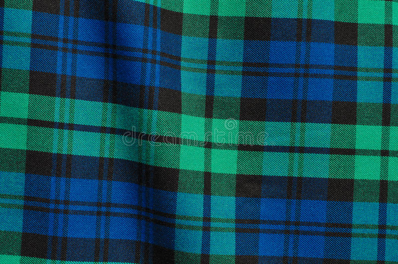 Green Blue Plaid Background. Scottish Green Blue Plaid Background stock photos