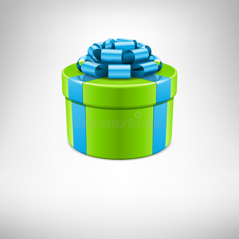 Green And Blue Present Royalty Free Stock Photo