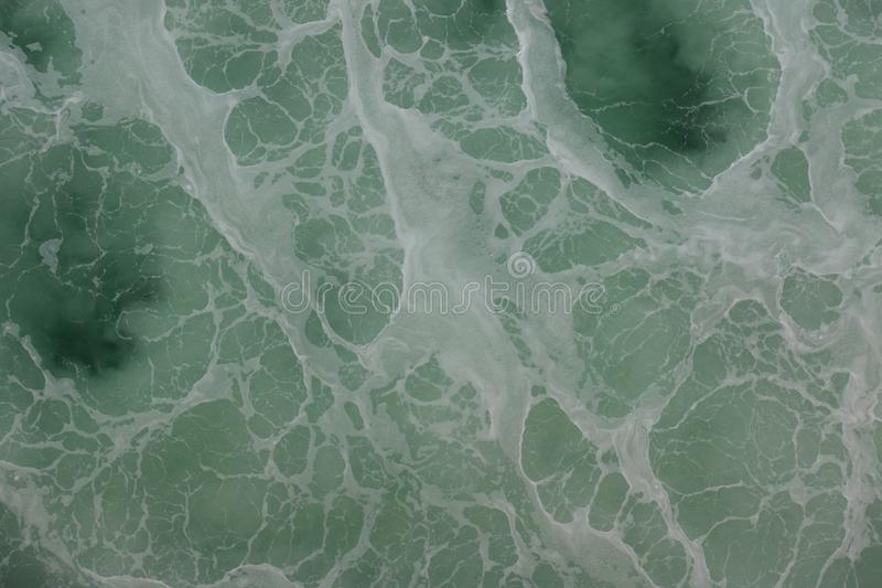 Green and Blue Surface of Ocean stock photography