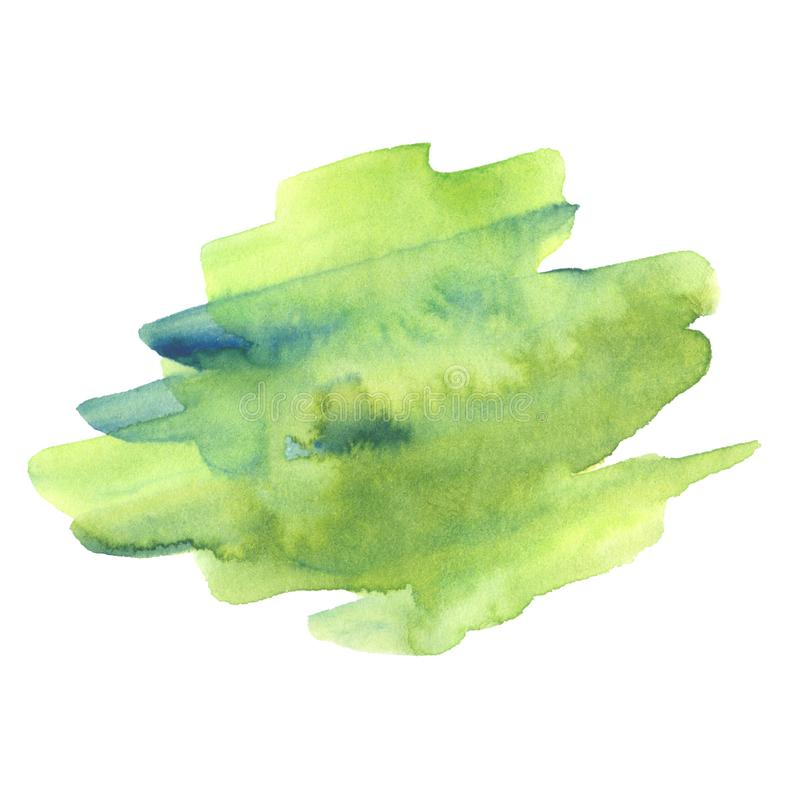 Green and blue watercolor blot royalty free illustration