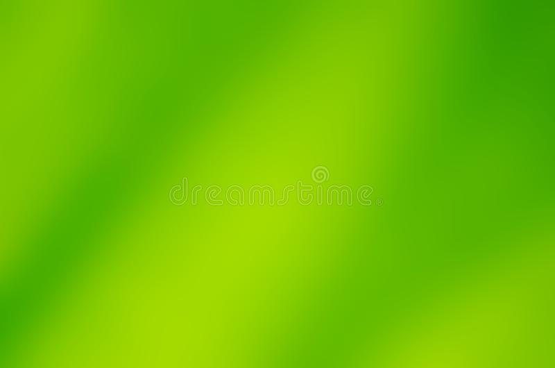 Green blur abstract background Left light yellow stock illustration