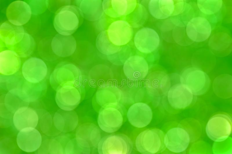 Green blur bokeh background, wallpaper royalty free stock image