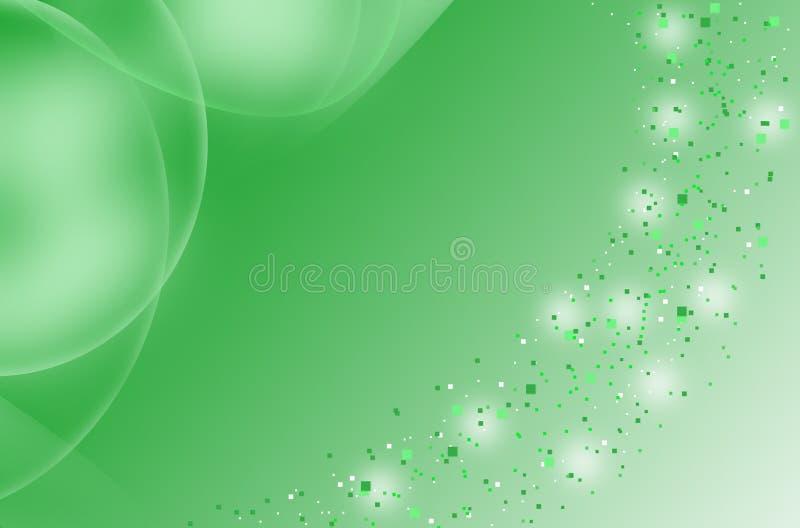 Green_blurry particle_ tło obraz stock