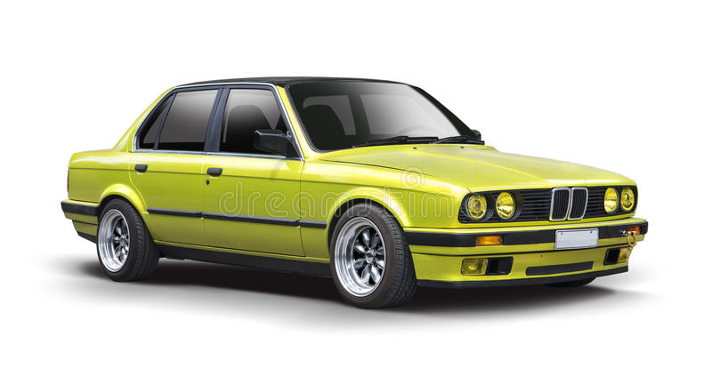 Green BMW Series 3 royalty free stock photography