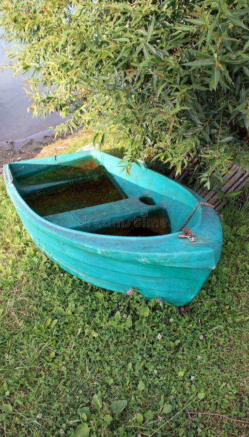 Green boat royalty free stock photos