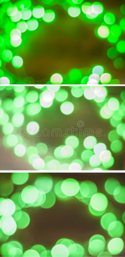 Green bokeh collage royalty free stock image